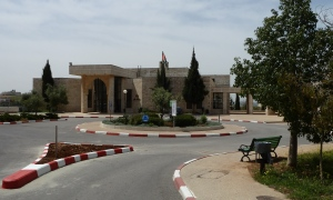 Empty campus at Birzeit University
