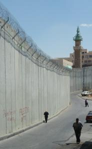 Seperationsbarrieren eller 'Muren' i Abu Dis, Jerusalem