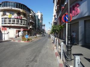 Lukkede butikker i Ramallah