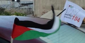 Palestine state 194 flag på bil