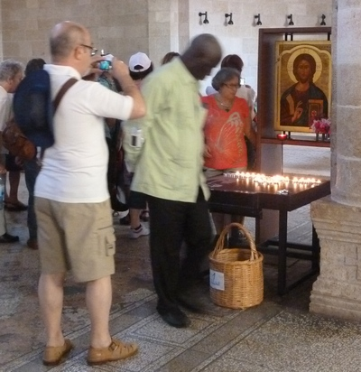 Kirken i Taghba, hvor Jesus forvandlede to fisk og fem brød til mad til 5.000