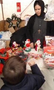 Det egyptisk koptiske klosters julebod i Bethlehem