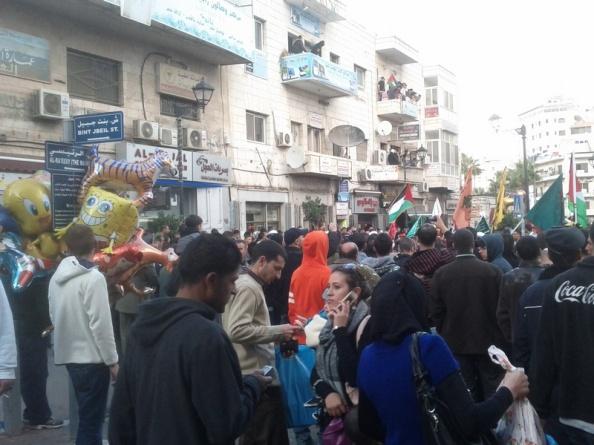 Fyldte gader i Ramallah før Eid Al-Adha