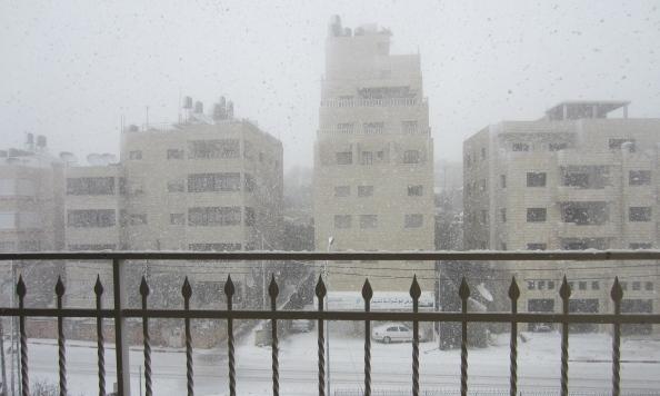 Sne i Ramallah - 2. marts 2012