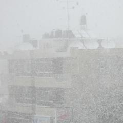 Snestorm i Ramallah - marts 2012