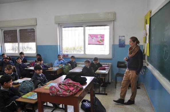 Dansk lærer underviser i engelsk på græsk-ortodoks skole i Ramallah