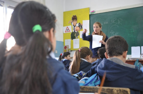 Dansk lærer på palæstinensisk skole