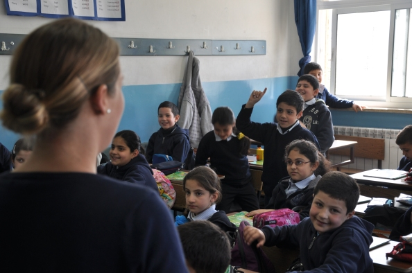 Græsk-ortodoks skole i Ramalleh undervises af dansk lærer